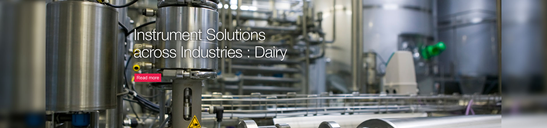 Instrument Solutions across Industries: Dairy